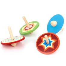 4pcs Traditional Toy Wooden Small tops for Children(China)