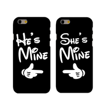 SHE&HE IS MINE Couple Cases Cover for iphone 4 4s 5 5s se 6 6splus 7 7plus  hard cases best gifts for lover
