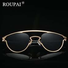 ROUPAI Metal Frame Female Sun Glasses 2017 Luxury Brand Designer Polarized Sunglasses Women Shadow oculos - Good Luck Accessories Store store