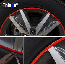 Car Wheel Hub Rim Stripe Reflective Decal Stickers for Opel corsa Zafira Vectra Antara Tigra Meriva