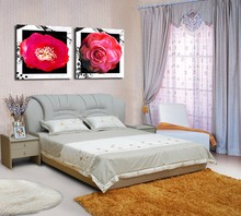 "100% High Quality Giclee Canvas Artwork ""Brilliant Big Flowers"" Modern Pictures Modular Painting on the Wall (NO Frame)"