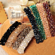 New Women Fashion Exquisite 4 Fours Crystal Rhinestone Barrette Hair Clip Hair Accessory Beautiful Women Hair Jewelry 7 colors