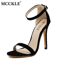 MCCKLE woman fashion Women Party Sandals 2017 Summer Brand Elegant High Heels Sandalias Mujer Women's Dress Shoes Sandal Plus