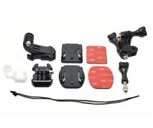 Go pro Safety stap+Curved/Flat sticker+J-Hook Buckle Mount+Long/Short vertical hinge+Rubber lock+Screw for Gopro Camera GP109