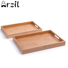 Wooden Tray Home Daily Tea Fruits Sundry Goods Storage Tray Korean Japanese Breakfast Restaurant Serving Plate Hotel