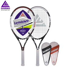 Carbon Aluminum Head Tennis Racket Lenwave Brand Men and women sports training Raquete Head Raquette High Qaulity Tennis Racqute