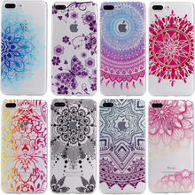Nephy New Datura Floral Skin Mobile Phone Case For iPhone 7 5 6 S 5S 6S Plus SE 6plus 7plus Cover Ultrathin Clear TPU Silicon