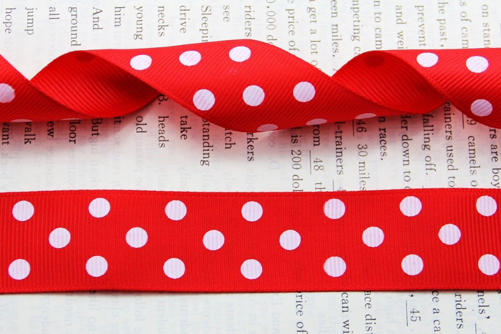 "10mm 22mm 7//8/"" MINNIE MOUSE POLKA DOT PRINTED GROSGRAIN RIBBON 1 metre 3//8/"""