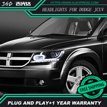 high quality Car Styling for Dodge JCUV 2009-2015 Headlights LED Headlight DRL Lens Double Beam HID Xenon Car Accessories