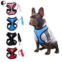 WholeSale Lovely Cute Small dog Harness Designer Pet Supplies Chihuahua Leash Lead Collar Set arnes perro Pet Shop dog HP742