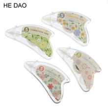 1 Pcs Cute Kawaii 8mm X 5m Flower Korean Deco Decorative Correction Tape Sticker Pen Office School Supplies Stationery Kids(China)