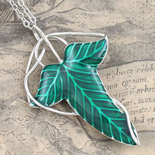 tiger totem Free Shipping quality Copper cupper green glaze leaf pendant fashion jewelry Gothic of king R ing Elf Leaf Brooches