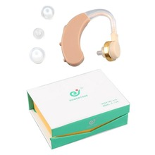 Mini Clear Listening Hearing Aids Aid Personal Sound Amplifier Behind the Ear Volume Adjustable AXON F-138