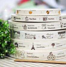 Manual grocery group1.5-2.5cm cotton fabric custom clothing Label ribbon DIY accessory sewing tapes Free Shipping