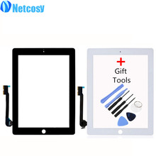 Netcosy Touch Screen Digitizer Front Touch Panel Glass Lens for iPad 3/4 TouchScreen Replacement Part TP + Tool Accessories(China)