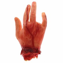 Peradix Bloody Simulation Severed Hand Horror Fake Arm Dead Body For Halloween
