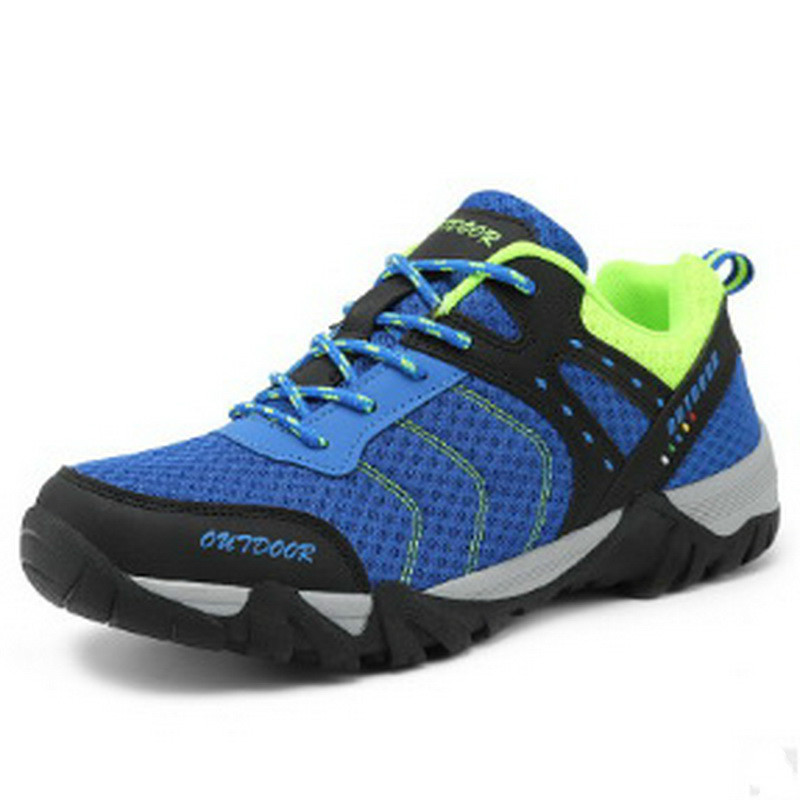 Men Hiking Shoes Outdoor 2018 Summer Air Non Slip Couple Net Cloth Women Sports Sneakers Plus Size 36~45<br>