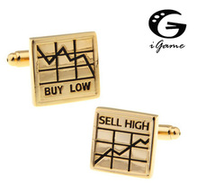 cufflinks for economists, accountants, financiers, stock market