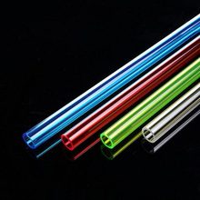 GKD ID10mm OD14mm red white blue green transparent acrylic tube 500mm 50CM length long 2 pcs/lot 10x14mm(China)