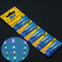 100PCS/pack  Battery Electronic Fishing Float Battery CR425 Night Electronic Luminous Float Lithium Pin Cells Fishing Accessory