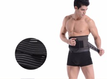 Men's Elastic Corset Back Lumbar Brace Support Belt Waist Brace Belt Orthopedic Posture Back Belt Correction Abdominal XXL(China)