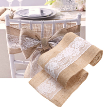 Buy 15*240CM Natural Jute Burlap Hessian Ribbon Lace Trims Tape Rustic Wedding Party Decoration for $3.63 in AliExpress store