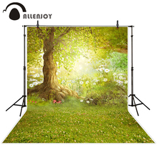 Allenjoy photographic background forest backdrop Meadow flower free nature background children boy studio scenic 10x10ft(China)