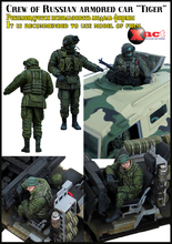 CREW OF RUSSIAN ARMORED CAR TIGER 1/35 Resin Model Kit Free Shipping