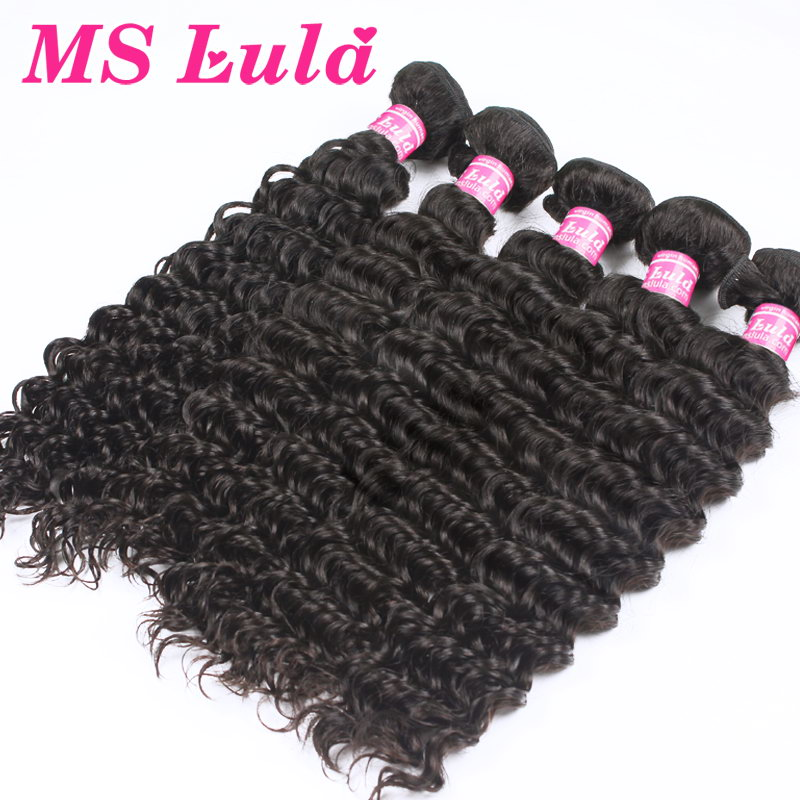 Free Shipping Peruvian virgin hair weave bundles 100 human hair weaving extensions 5pcs lot Deep wave ms lula Hair<br><br>Aliexpress