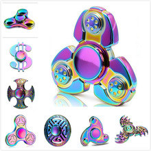 Buy 2017 Rainbow Metal Fidget Spinner Handspinner Hand Finger Toys Zinc Alloy EDC multicolor Autism ADHD Anxiety Stress Relief for $2.29 in AliExpress store