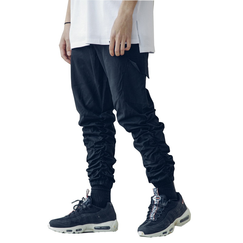 2018 high quality Sweatpants Casual Solid Hip Hop high street Trousers Pants Men Joggers oversize overall  cargo pants Trousers