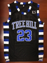 Nathan Scott 23 One Tree Hill Ravens Basketball Jersey Black All stitched(China)