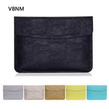 VBNM Ultra Thin Waterproof PU Leather Laptop Sleeve Cover Case for Apple Macbook Air Retina Touch 11 12 13 15 Inch Liner Sleeve