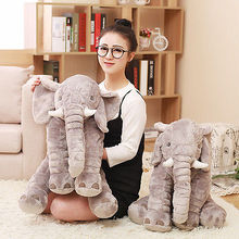 NEW Jumbo Elephant Stuffed Animal 60cm Plush Doll Baby Soft Toy Lumbar Pillow