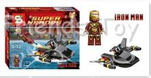 IRON MAN Marvel The Avengers Building Bricks Super Hero  Vehicle Set Block Figure Kids Toys Compatible With Lego