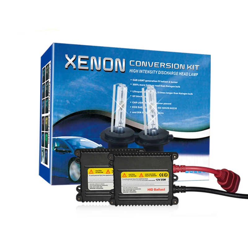 35W 12V HID Xenon Slim Single Conversion Headlight Kit H1 H3 H7 H4-1 H8 9005 9006 H11 HB3 HB4 HID Bulb 3000k 4300K 6000K 8000K<br>