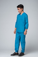 Free Shipping OEM hospital clothes uniformes hospital scrub sets medical coat hot sale(China)