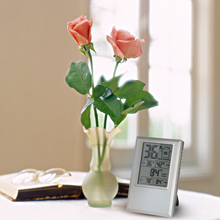 Indoor Digital Thermometer Hygrometer weather station clock well Temperature Humidity tester Max Min Value Comfort Level Display
