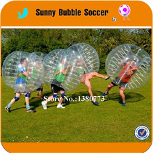6pcs+1blower 1.5m TPU Body Zorb Ball For Team Building And Events, loopy Ball,Bumper Ball,Bubble Soccer With Good Quality