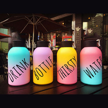 500ml Personalized Gradient Color Bottle  Outdoor Portable Water Bottles Smart Belly Bottle  Cute Termo Drink Flasks