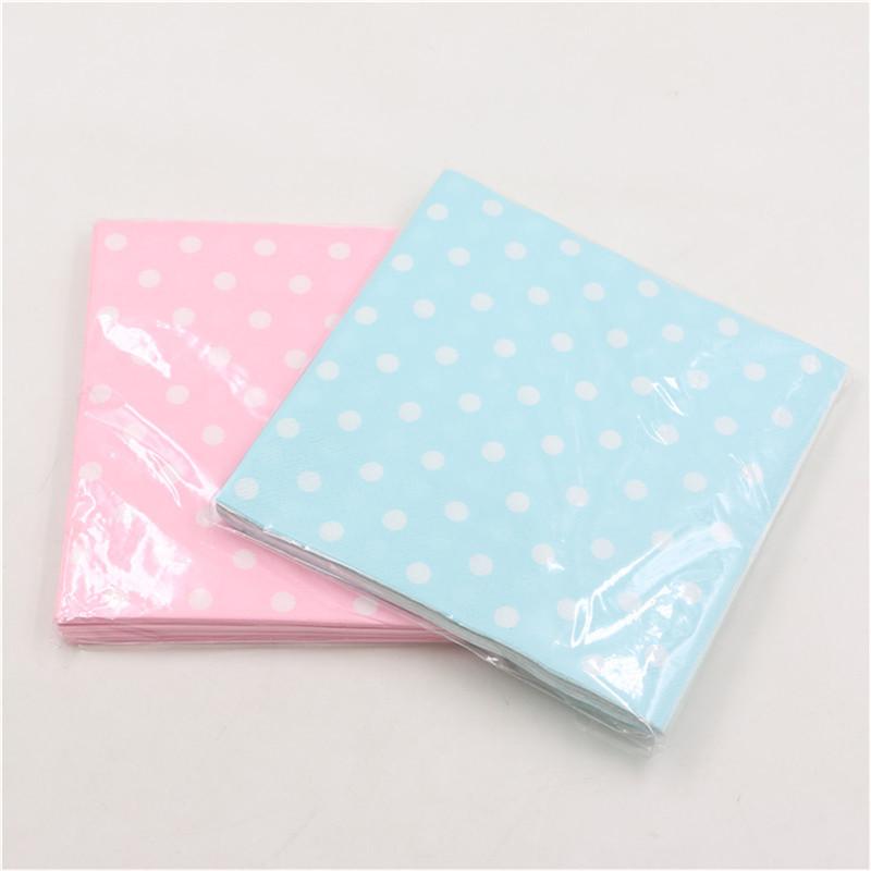 pure-color-pink-blue-polka-dot-napkins-20pcs-food-grade-for-baby-boy-girls-Paper-Napkins