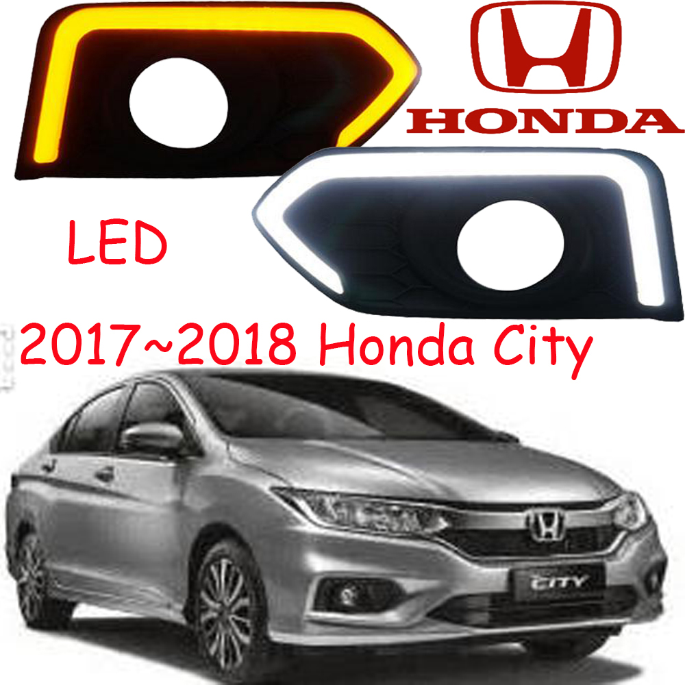Car-styling,City fog lamp,2014~2016/2017~2018year,chrome,LED,Free ship!City head light,car-covers,city daytime light<br>