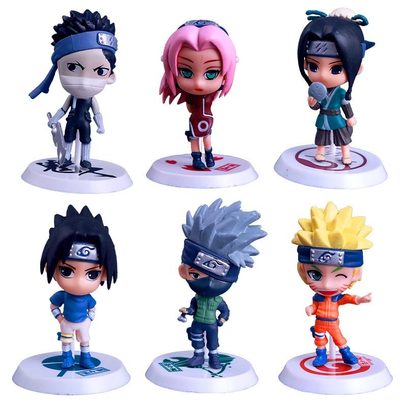 6pcs/lot Anime Naruto Figure Uzumaki Naruto Hatake Kakashi Haruno Sakura Action Toy Figures X186<br><br>Aliexpress
