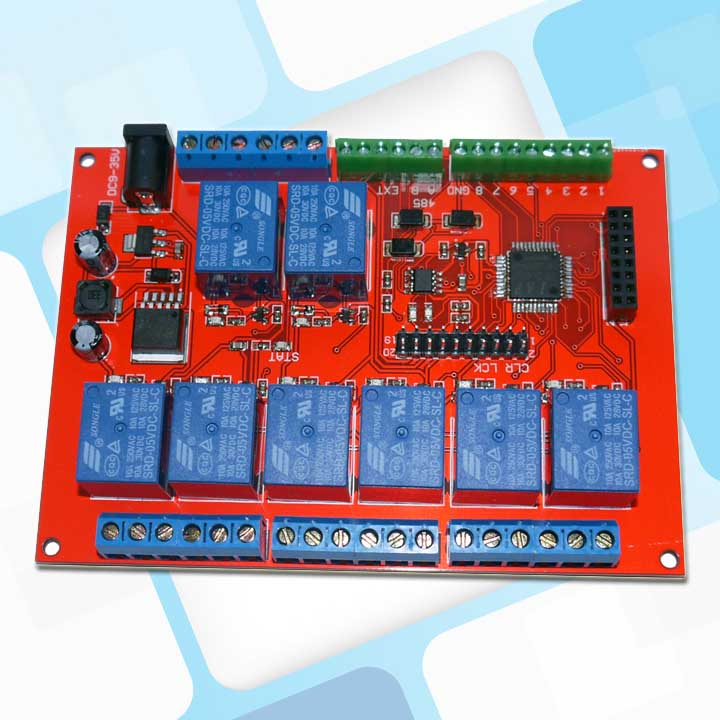 Modbus RTU 8 way relay with local button /8 road switch quantity 485 serial relay module<br>