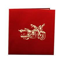 3D Motorcycle Model Funny 3D Paper Laser Cut greeting Cards Birthday Christmas greeting card Friend Party Invitation Card