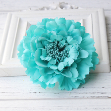 Newest style Fabric Blooming peony Flower Corsage Brooch woman Hair Decorations & Brooch wedding party Hair Clip Bridal Wedding(China)