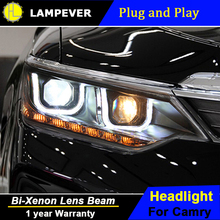 Lampever Styling Camry Headlights 2014-2015 New Camry V55 LED Headlight LED drl Lens Double Beam H7 HID Xenon