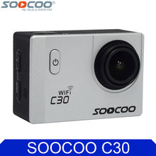 Original SOOCOO C30 4K Wifi Gyro Diving 1080P Full HD Waterproof 30m Sports Action Camera with Selfie Stick Car Charger Options