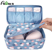 Portable Waterproof Travel Bag Multi-functional Organizer Storage Bag Panties Bra Cosmetic Makeup Ties Underwear Storage Bags(China)