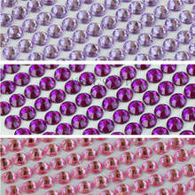 900pcs/lot 4mm Diameter Acrylic Rhinestones Phone PC Car Art DIY Decals Bling Rhinestone Self Adhesive Scrapbooking Stickers 9Z(China)
